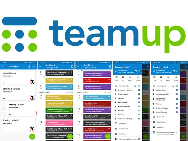 teamup-App | Trainingsplan für die Hosentasche
