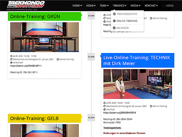 Update: Live-Online-Training mit Dirk Meier